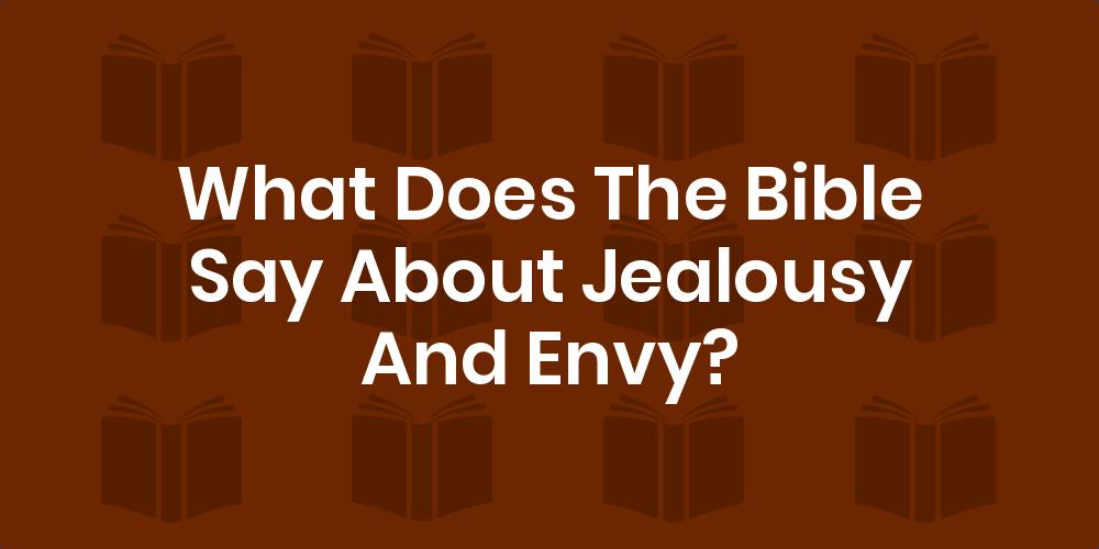 Verses for jealousy