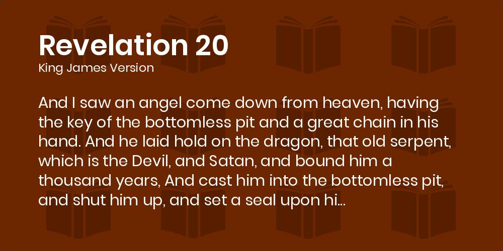 Revelation 20 Kjv
