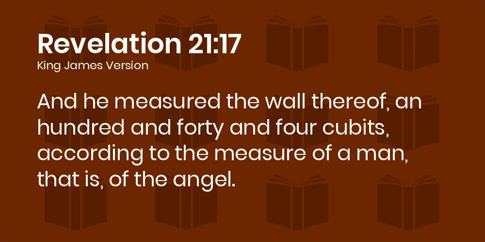 Resultado de imagen de revelation 21:17